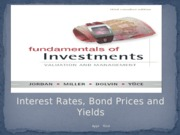 LEC 7 - Interest Rates and Bond prices