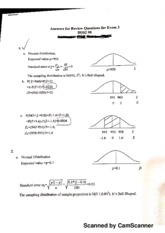 Correct Answers for Exam 3 Review Questions