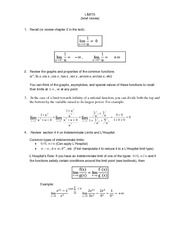 Handout_LIMITS_Review