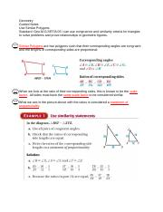 7 3 Use Similar Right Triangles Answers Geometry Guided Notes