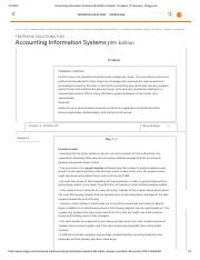 Accounting Information Systems 9th Edition Chapter 1 Problem 1P Solution _ Chegg