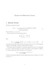Bivariate and Multivariate Normal