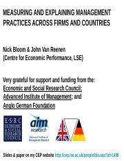 management_practices_across_firms_and_countries_bloom_and_van_reenan.ppt