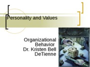 Session 5 2011 (Individual Behavior With Personality and Emotions)