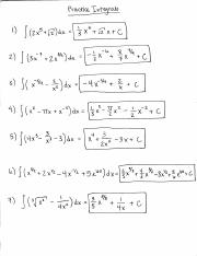 Math 127 Practice Integrals Solutions