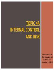 Lecture Notes (Topic 4A) - Internal Control and Risk.pptx