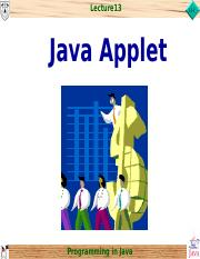chap13_Java Applet