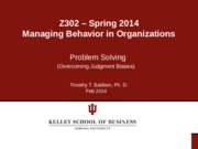 Chapter 3 - Overcoming Judgment Biases Spring 2014