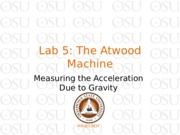 Lab 5 The Atwood Machine