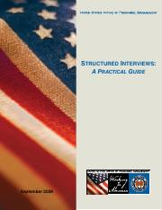 Structured Interview Federal Guide