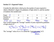 Section 3.3 Expected Values Notes