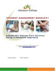 CHCPAL001 Deliver care services using a palliative approach SAB v3.1 - THEORY.docx