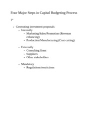 steps involved in capital budgeting proposals The time value of money and capital budgeting the time value of money and capital budgeting  the major steps involved in a capital budgeting  proposals.