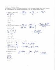 Sample Exam Paper 2 (Part A only) Solutuions