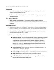 IMC Chapter 8 Book Notes