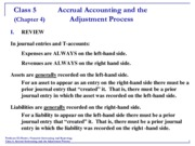 Accounting 5 Accrual:Adjustments