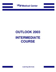Outlook 2003 Intermediate Manual