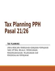 PPT Tax Planning PPh21 New.pptx