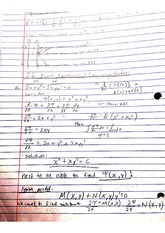 exact equations and integrating factors notes