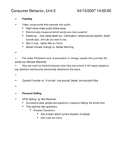 Consumer Behavior Notes (unit 2)