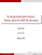 No arbitrage implied volatility functions_Empirical evidence from KOSPI 200 index options.pdf