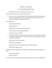 Study Guide Ch.2 Female Repro Tract