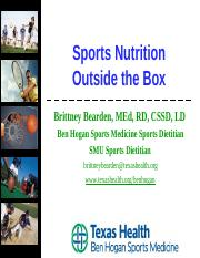 Sports Nutrition Outside the Box.ppt