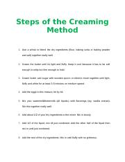 Steps of the Creaming Method.docx