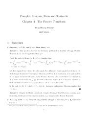 Stein-Shakarchi Complex Analysis Solution Chapter 4 The Fourier Transform.pdf