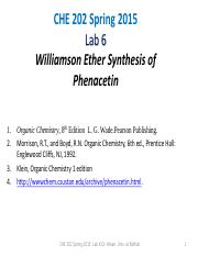 Lab 6 Notes Phenacetin Synthesis-2