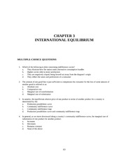 Chapter 3 X INTERNATIONAL EQUILIBRIUM