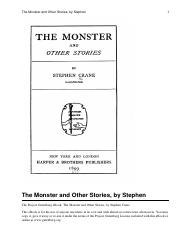 The_Monster_and_Other_Storie
