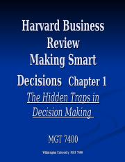 The hidden traps in decision making ppt video online download.