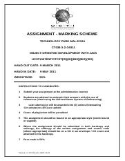 Individual Assignment Marking Scheme-Cover