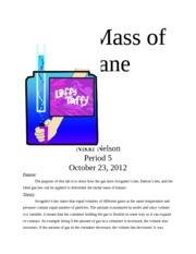 Lab 3. Molar Mass of Butane 10.23.12