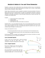 PHY1 Mod-08 (Projectile Motion)_summer