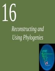 Ch16 Reconstructing & Using Phylogenies(1)