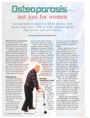 osteoporosis - not just for women