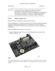 LAB 1 - motherboards