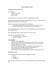 Exam 4 Review Sheet