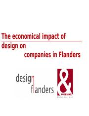 economical impact of design.Flanders 2007