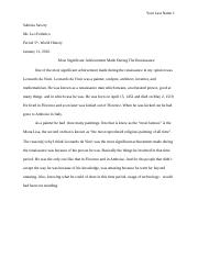Chapter 12 Weekly Essay