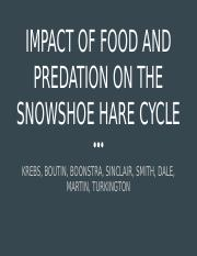 Impact of Food and Predation on the Snowshoe Hare Cycle.pptx