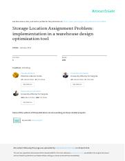 Storage_Location_Assignment_Problem_implementation