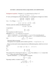 Math 18.034 Linear Fractional Equations Notes