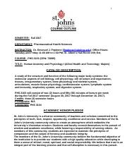 St._John's_University_PHS_3103_Human_Anatomy_and_Physiology_I_Lecture_Syllabus_Course_Description_Fa