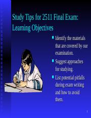 study tips final exam