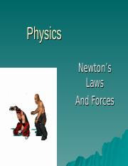 Newton's Laws and Forces.ppt