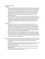 Competences Statement