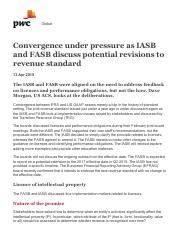 World Watch _ FASB IASB convergence under pressure_ PwC.pdf